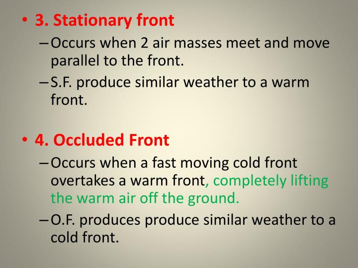 3. Stationary front