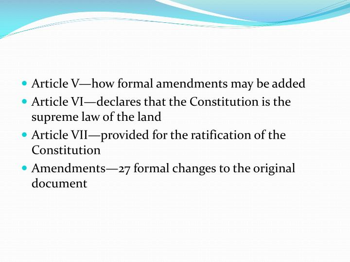 Article V—how formal amendments may be added