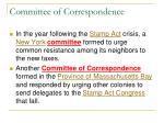 committee of correspondence