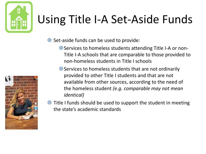 Using Title I-A Set-Aside Funds
