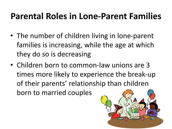 Parental Roles in Lone-Parent Families