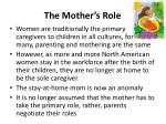 the mother s role