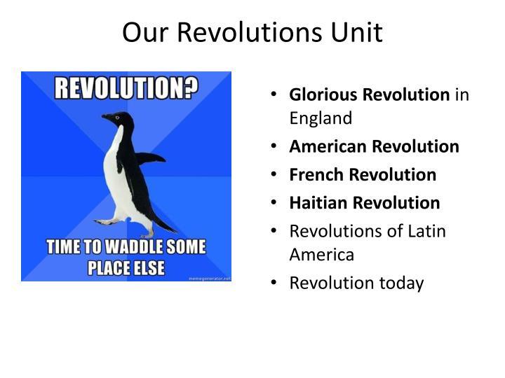 Our Revolutions Unit