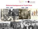 historical background of youth work1