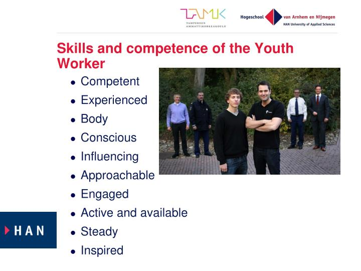 Skills and competence of the Youth Worker