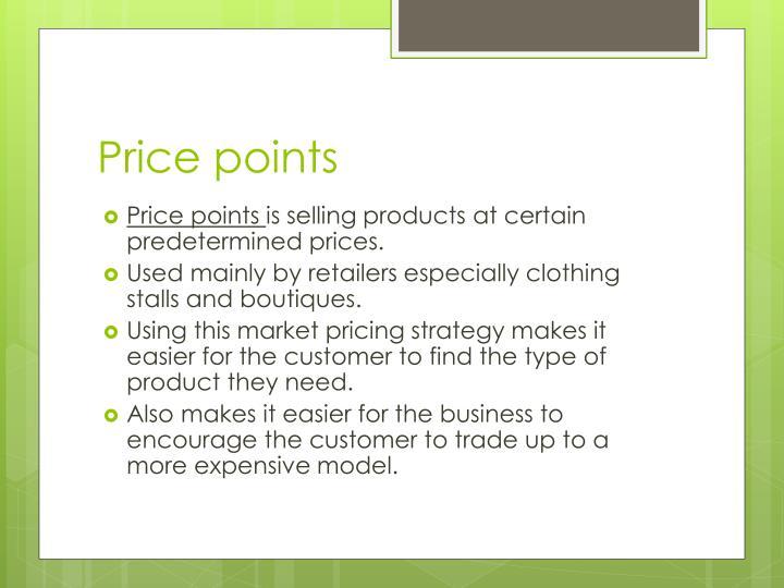 Price points