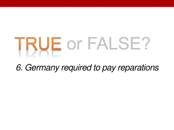 6. Germany required to pay