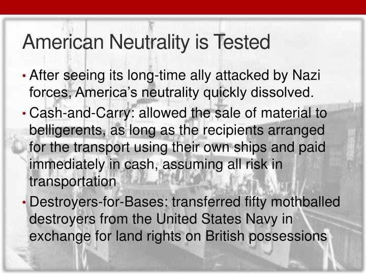 American Neutrality is Tested