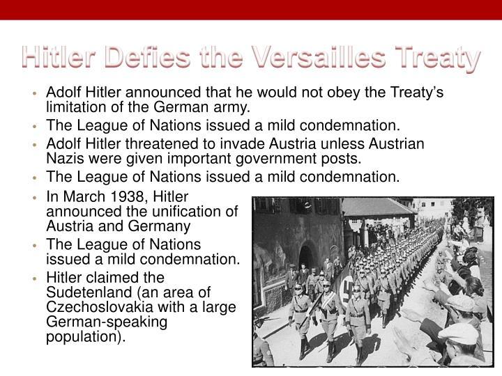 Hitler Defies the Versailles Treaty