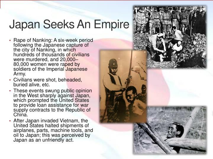 Japan Seeks An Empire