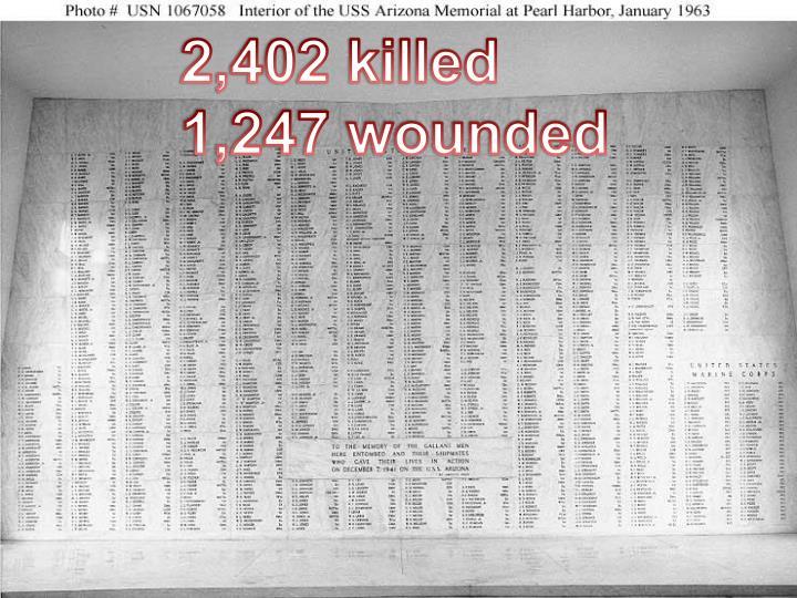 2,402 killed