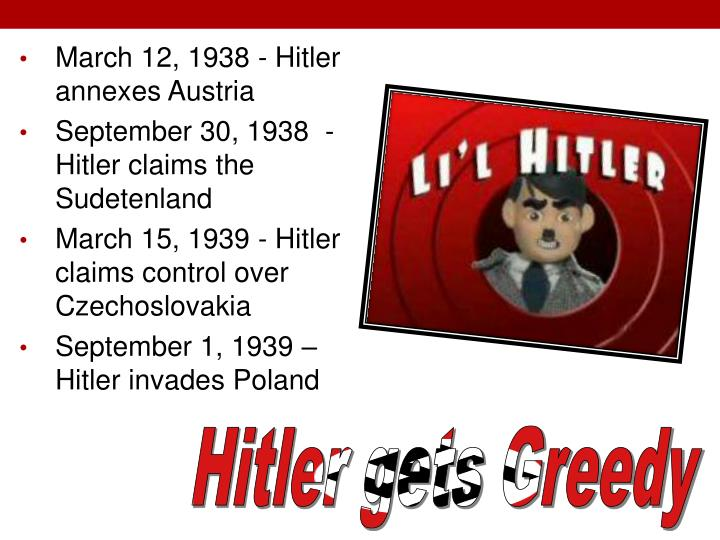 March 12, 1938 - Hitler annexes Austria