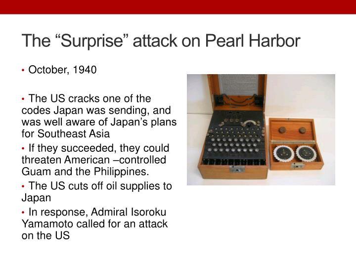 """The """"Surprise"""" attack on Pearl Harbor"""