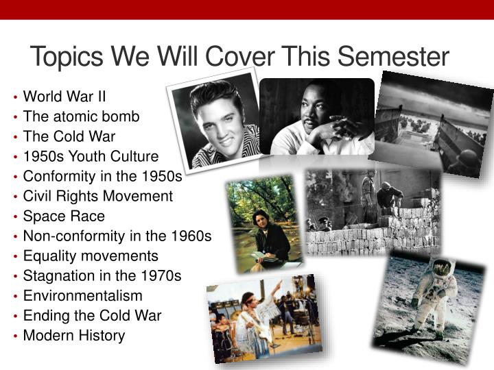 Topics We Will Cover This Semester