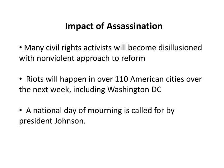 Impact of Assassination