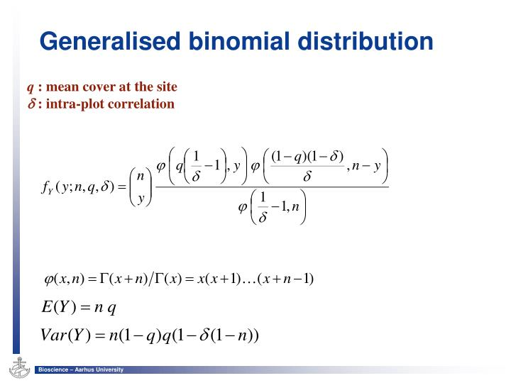 Generalised binomial distribution