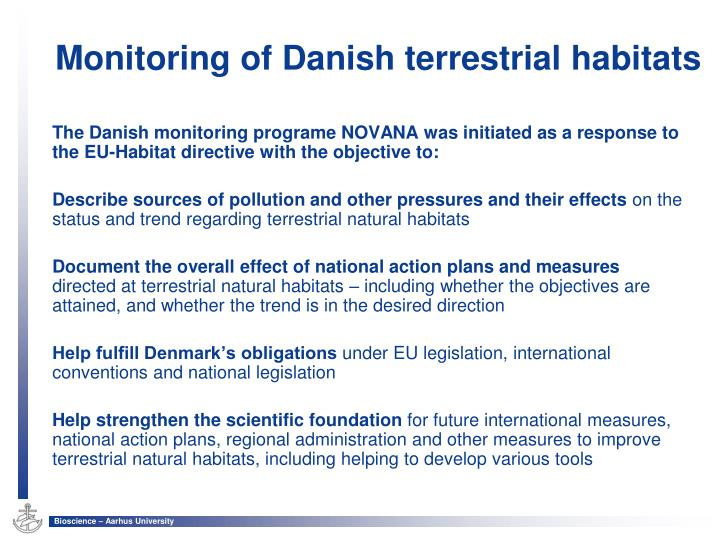 Monitoring of danish terrestrial habitats