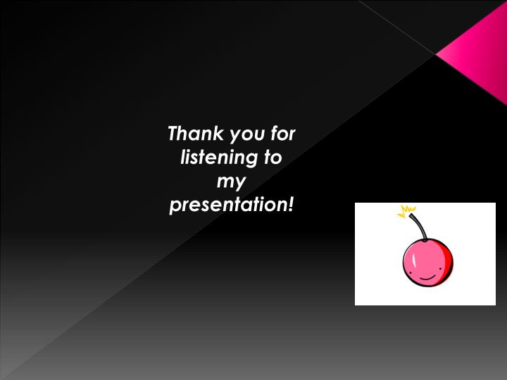 Thank you for listening to my presentation!