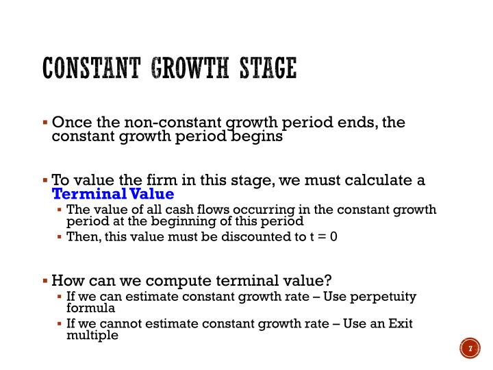 Constant growth stage