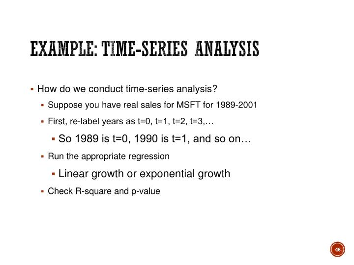 Example: Time-series analysis