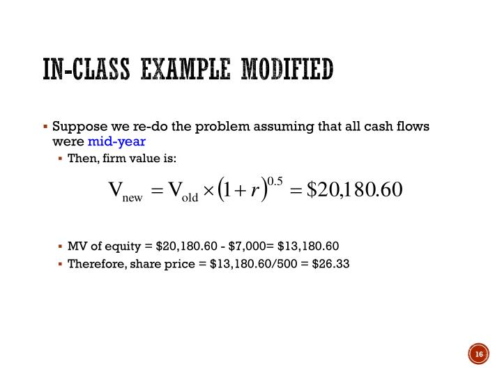 In-class example modified