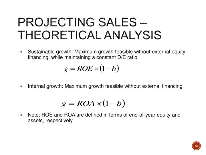 Projecting Sales – Theoretical Analysis