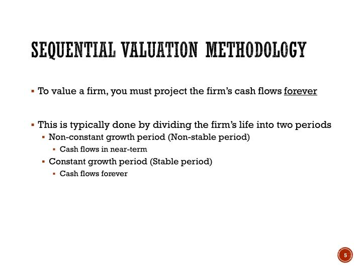 Sequential Valuation Methodology