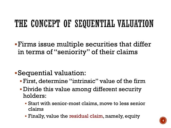 The concept of Sequential Valuation