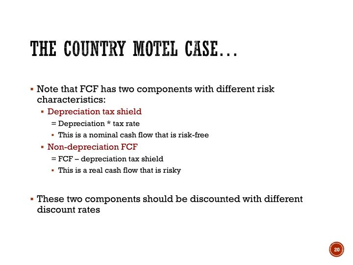 The Country Motel Case…