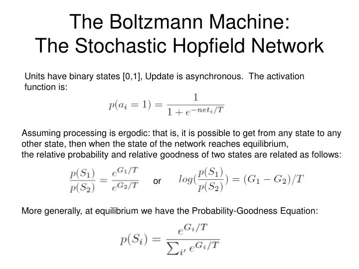 The Boltzmann Machine: