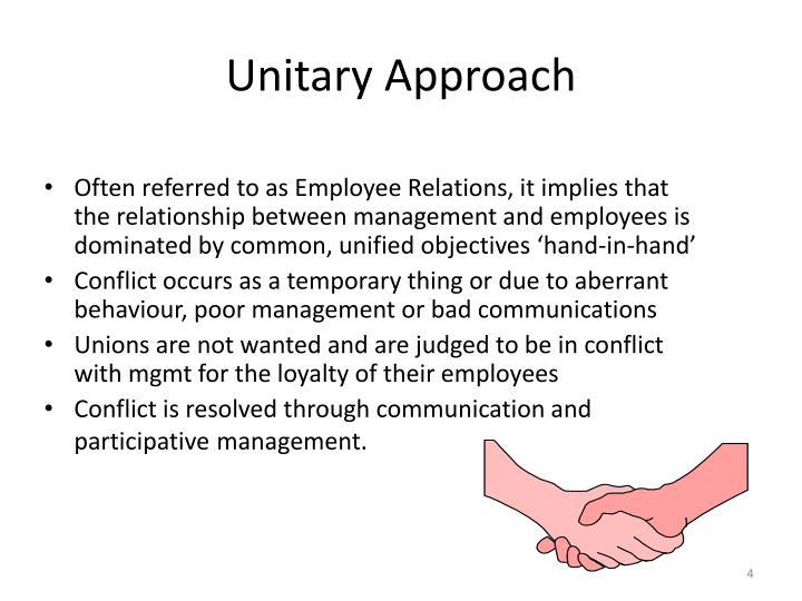 Unitary Approach