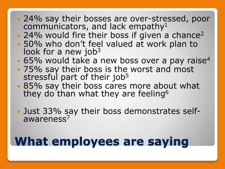 24% say their bosses are over-stressed, poor communicators, and lack empathy