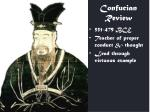 confucian review