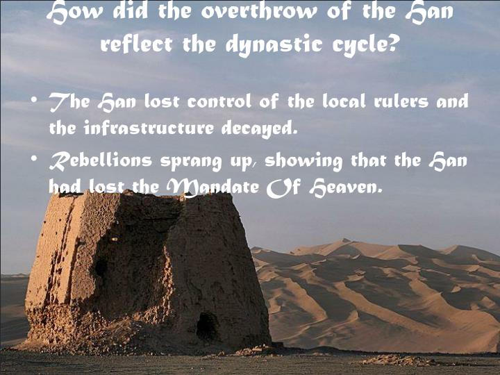 How did the overthrow of the Han reflect the dynastic cycle?
