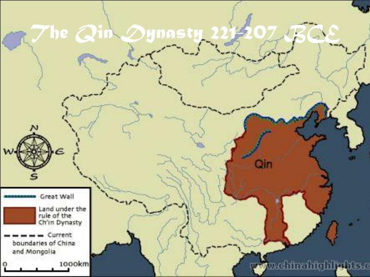 The Qin Dynasty 221-207 BCE