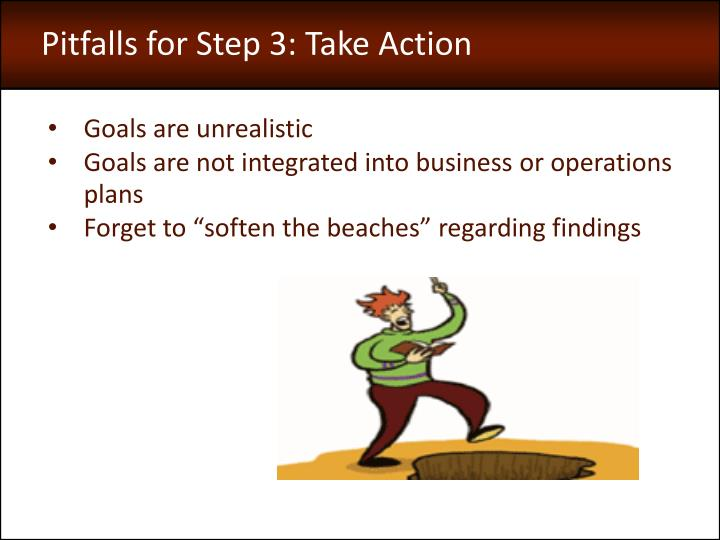 Pitfalls for Step 3: Take Action