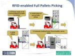 rfid enabled full pallets picking