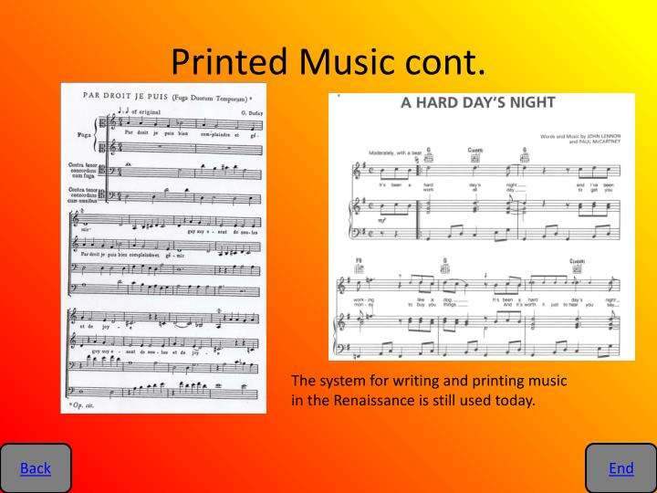 Printed Music cont.