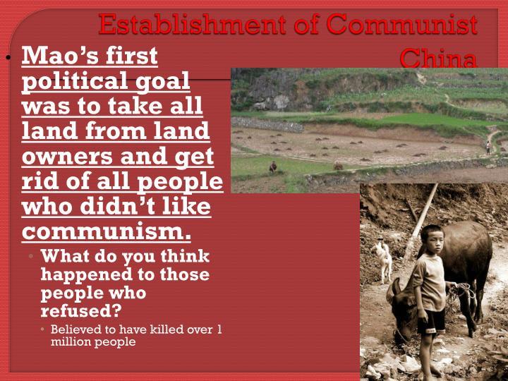 Establishment of Communist China