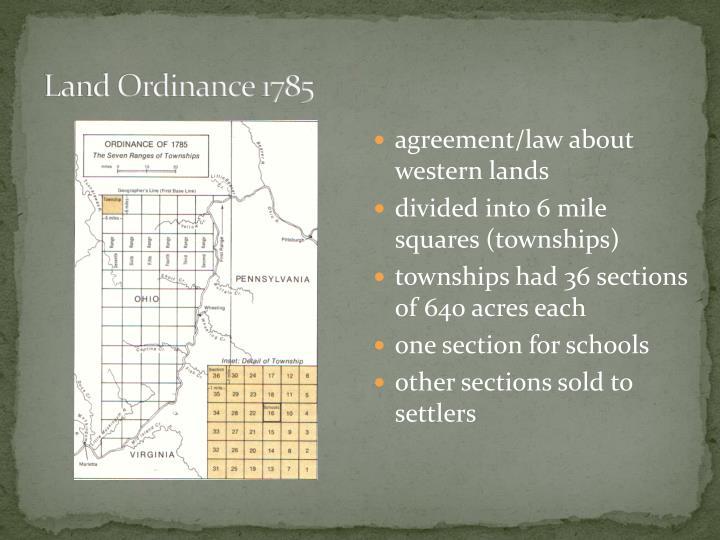 Land Ordinance 1785