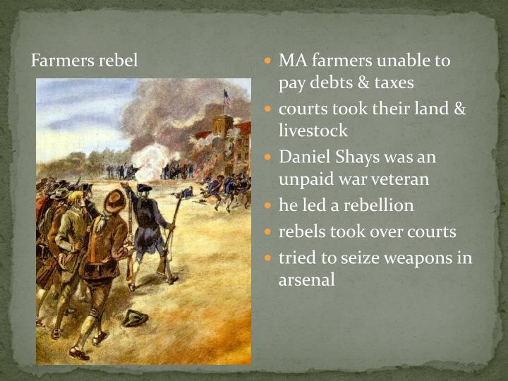 Farmers rebel