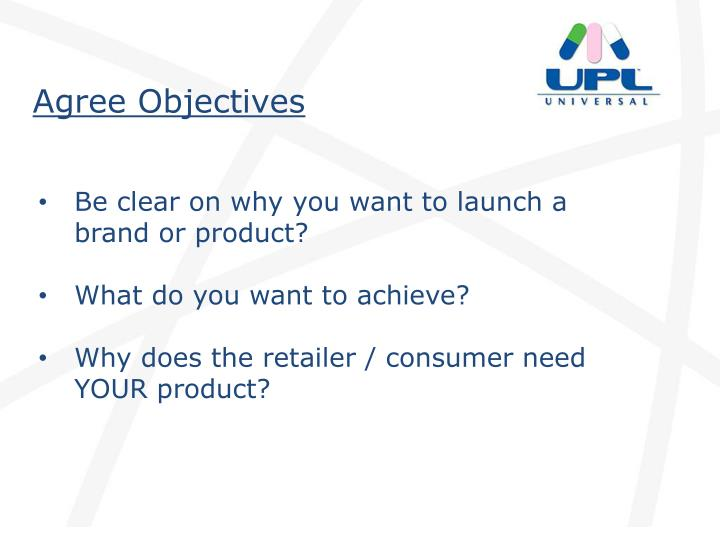Agree Objectives