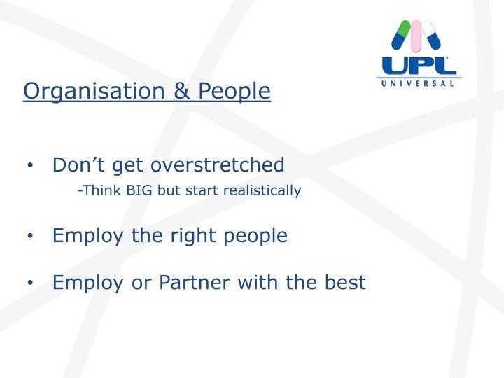 Organisation & People