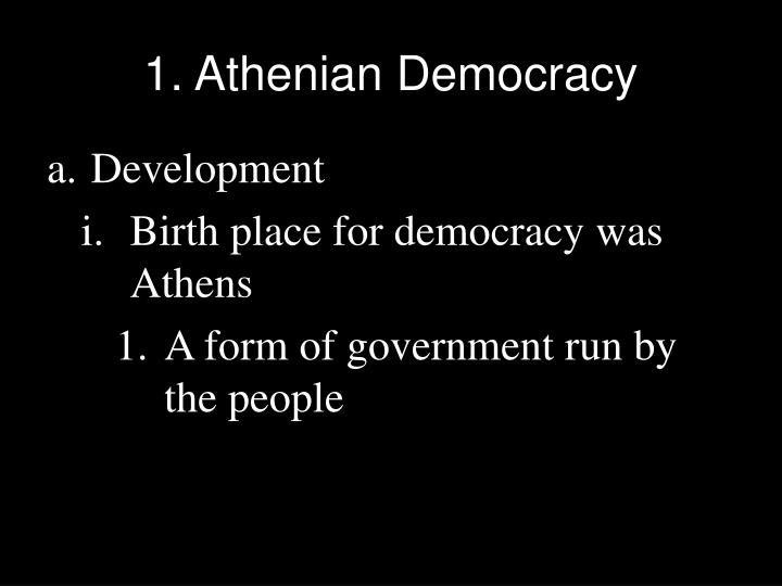 1. Athenian Democracy