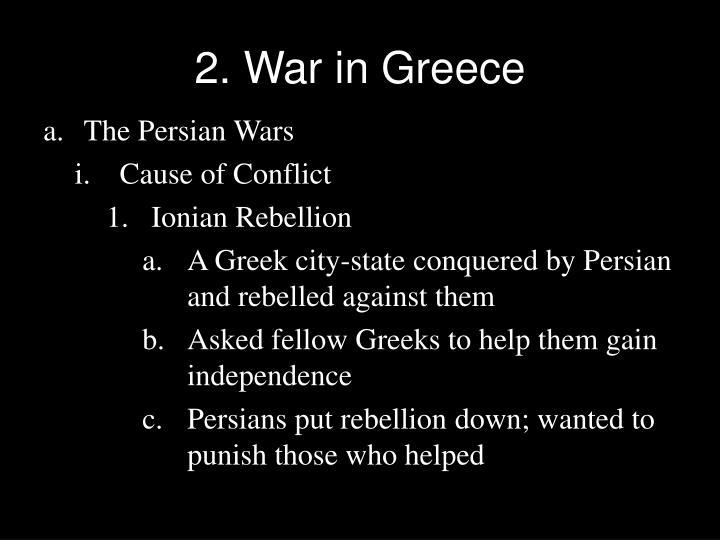 2. War in Greece