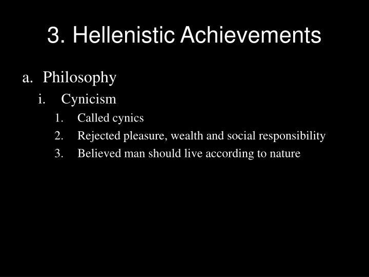 3. Hellenistic Achievements