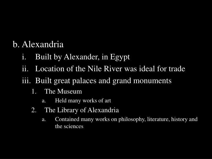 b. Alexandria