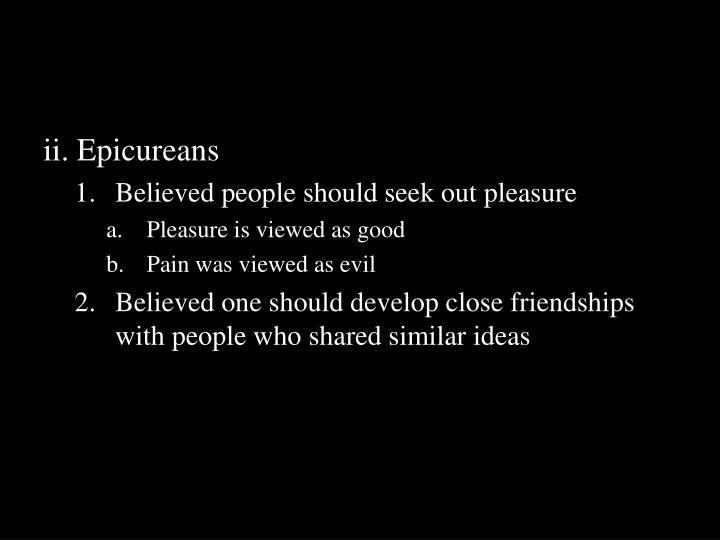 ii. Epicureans