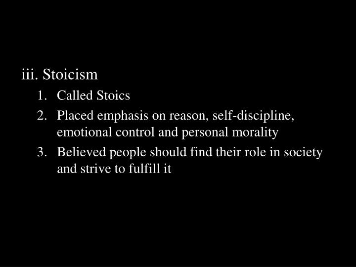 iii. Stoicism