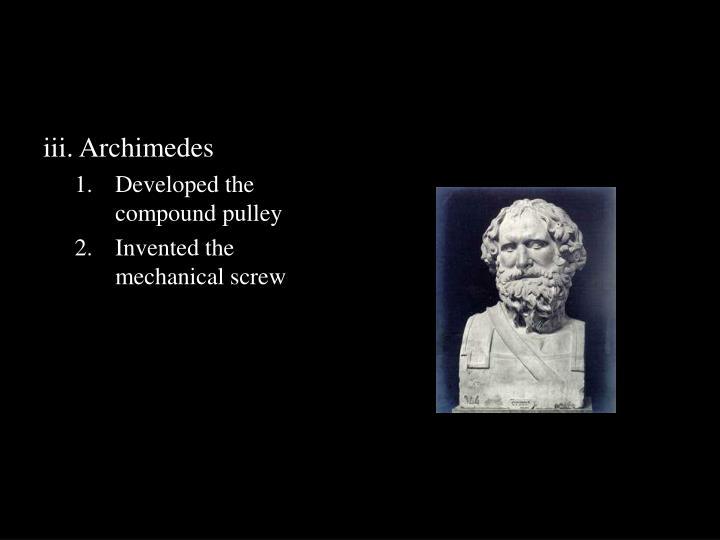 iii. Archimedes